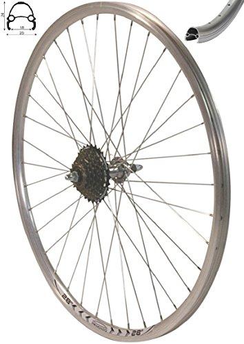 Redondo 28 Zoll Laufrad Hinterrad inkl. 7 Fach Shimano Schraubkranz Felge Alu Rad Fahrrad -