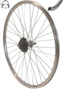 Redondo 28 Zoll Laufrad Hinterrad inkl. 7 Fach Shimano Schraubkranz Felge Alu Rad Fahrrad - 1