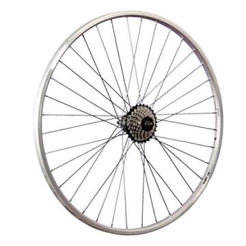 Taylor Wheels 28 Zoll Hinterrad YAK19 mit 7 fach Shimano Schraubkranz - silber - 1