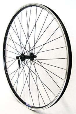 28 Zoll Fahrrad Laufrad Vorderrad Hohlkammerfelge CUT 19 Shimano Deore 610 schwarz für V-Brakes / Felgenbremse - 1