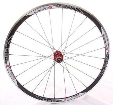 28 Zoll Novatec Carbon/Alu Rennrad Laufradsatz rot / Mach1 VIA32 / DT Competition 1710 g - 2