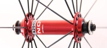 28 Zoll Novatec Carbon/Alu Rennrad Laufradsatz rot / Mach1 VIA32 / DT Competition 1710 g - 6