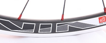 28 Zoll Novatec Carbon/Alu Rennrad Laufradsatz rot / Mach1 VIA32 / DT Competition 1710 g - 7