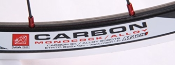 28 Zoll Novatec Carbon/Alu Rennrad Laufradsatz rot / Mach1 VIA32 / DT Competition 1710 g - 8