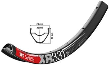 DT Swiss 2040010600 Felge, Schwarz, 6.5 mm - 1