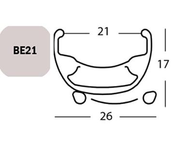 Exal Felge Be 21, 27.5″ 36l Schw 21-584 Vl:6,5mm Einfachoesen -