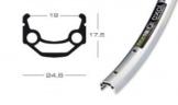 """Felge Exal MX 19 26""""silber 559-19 VL 8,5 mm 36 Loch,mit Ösen - 1"""