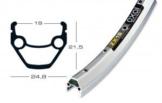 """Felge Exal ZX 19 28"""" silber 36 Loch 19-622 Ventilloch 6,5mm mit Ösen - 1"""