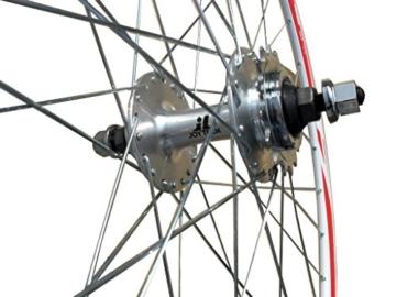 Fixed Gear Rad, Vorne oder Hinten, Schwarz oder Weiß, Rodi Airline Felgen, Joytech Naben, Fixie City, Airline, weiß - 2