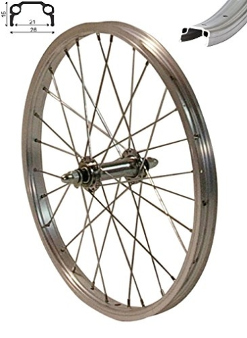 REDONDO 20 Zoll Vorderrad Laufrad Fahrrad 20″ Kasten Felge Aluminium Silber -