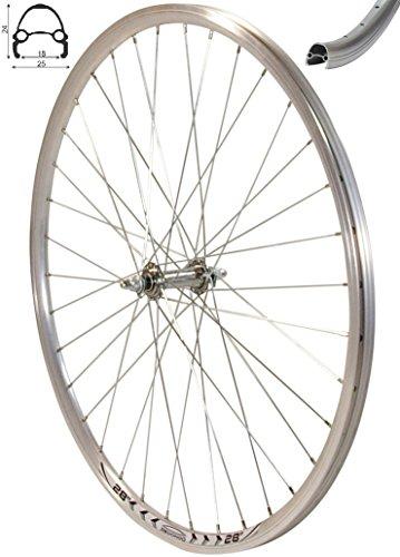 REDONDO 28 Zoll Vorderrad Laufrad Fahrrad V-Profil Hohlkammer 28″ Felge Silber -