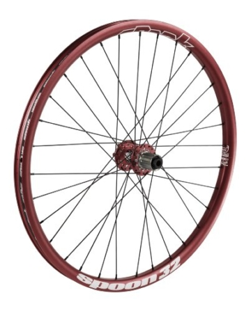Spank Laufradsatz Spoon32 EVO wheelset 20mm + 12/135mm incl. adapter, red, 26