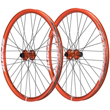 Spank Spoon32 Evo Wheelset 20 mm, 12/135 mm Inklusive Adapter Laufräder, Orange, 26 Zoll -