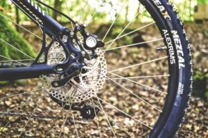 Fahrrad-Close-up im Freien