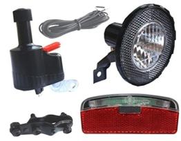 BDCP Seitenläufer Dynamo Lampenset, Halogen Scheinwerfer, Eco-Led Rücklicht - 1