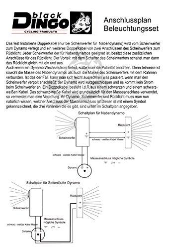 BDCP Seitenläufer Dynamo Lampenset, Halogen Scheinwerfer, Eco-Led Rücklicht - 2