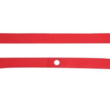 Dilwe Fahrradreifen Liner, PVC Rote Fahrradfelgenstreifen Felgenband für 20 Zoll 24 Zoll 26 Zoll 700C Reiträder(24inch) - 6