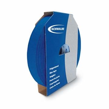 Schwalbe Felgenband Textil MV 15 mm 50m/Rolle, blau, STANDARD -
