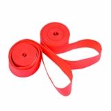 VORCOOL 2 Stücke Fahrrad Reifen Kissen Liners Pannenschutz Felgenband Felgenband Reifen Protector Innenrohr für MTB Rennrad 26 Zoll x 18mm (Rot) - 1