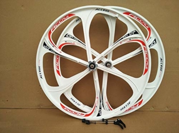 26 Zoll Magnesiumlegierung Fahrradfelgen Mountainbike Fahrradfelgen, MTB Fahrradfelge 6 Speichen Mountainbike Räder - 2