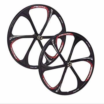 26 Zoll Magnesiumlegierung Fahrradfelgen Mountainbike Fahrradfelgen, MTB Fahrradfelge 6 Speichen Mountainbike Räder - 1