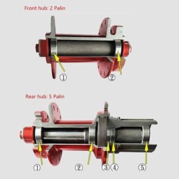 27,5 Zoll Radfahren Räder, Fahrrad Doppelwandig MTB-Felge Schnelle Veröffentlichung V-Brake Hybrid/Loch Scheibe 7 8 9 10 Geschwindigkeit 100mm (Color : A, Size : 27.5inch) - 2