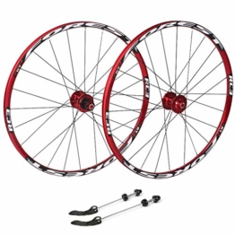 27,5 Zoll Radfahren Räder, Fahrrad Doppelwandig MTB-Felge Schnelle Veröffentlichung V-Brake Hybrid/Loch Scheibe 7 8 9 10 Geschwindigkeit 100mm (Color : A, Size : 27.5inch) - 1