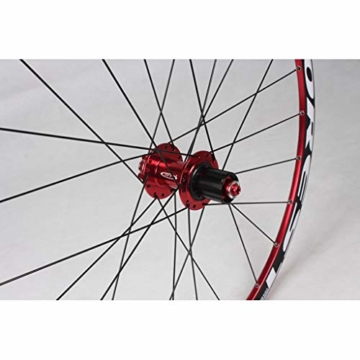 27,5 Zoll Radfahren Räder, Fahrrad Doppelwandig MTB-Felge Schnelle Veröffentlichung V-Brake Hybrid/Loch Scheibe 7 8 9 10 Geschwindigkeit 100mm (Color : A, Size : 27.5inch) - 4