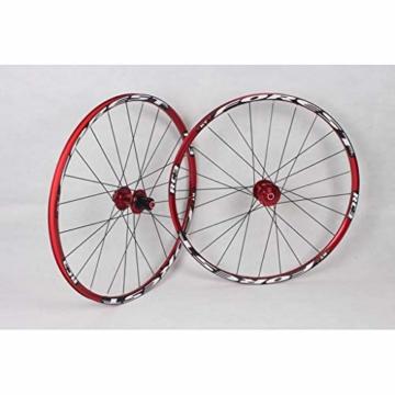 27,5 Zoll Radfahren Räder, Fahrrad Doppelwandig MTB-Felge Schnelle Veröffentlichung V-Brake Hybrid/Loch Scheibe 7 8 9 10 Geschwindigkeit 100mm (Color : A, Size : 27.5inch) - 5