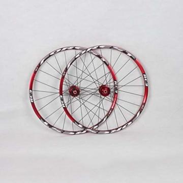 27,5 Zoll Radfahren Räder, Fahrrad Doppelwandig MTB-Felge Schnelle Veröffentlichung V-Brake Hybrid/Loch Scheibe 7 8 9 10 Geschwindigkeit 100mm (Color : A, Size : 27.5inch) - 6