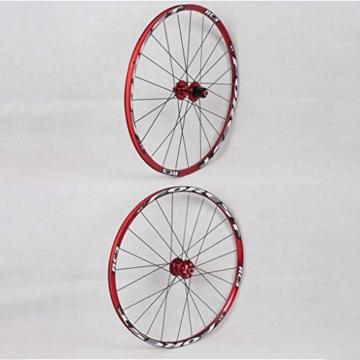 27,5 Zoll Radfahren Räder, Fahrrad Doppelwandig MTB-Felge Schnelle Veröffentlichung V-Brake Hybrid/Loch Scheibe 7 8 9 10 Geschwindigkeit 100mm (Color : A, Size : 27.5inch) - 7