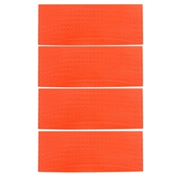 4 PC Fahrrad-Dekoration Felgen Reflektierende Aufkleber orange - 1