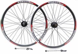 """66cm Rad Mountain Bike Bremse, und Vbrake Bremse Räder, 7,8,9,10Speed Kassette Typ, Redneck XC1Headset doppelwandig V Abschnitt Felgen 26"""" FRONT + REAR - 1"""