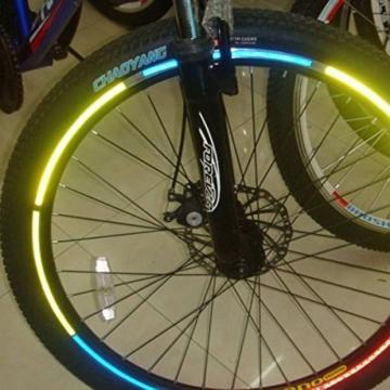 Bazaar Fahrrad Fahrrad reflektierendes Material Felgen Aufkleber Abziehbilder - 1