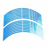 Beito 16 PC Felgen Aufkleber Reflektierende Aufkleber Breakpoint- Streifen Klebeband 17,' - 18,' für Motorrad-Auto-Fahrrad (blau) - 1