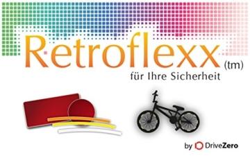 .drivezero. Retroflexx Reflektorenbögen 8 mm für Fahrradfelgen, 36 Stück in Schwarz (Weiß reflektierend) - 2