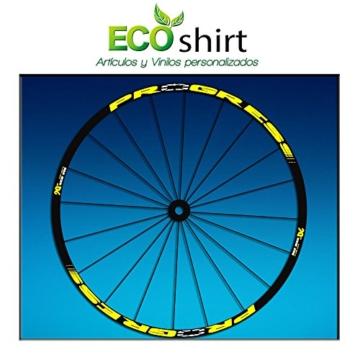 Ecoshirt 2K-L69Y-JC1E Aufkleber Stickers Felge Rim Progress Xcd EVO Am44 MTB Downhill, Gelb 29 Zoll -