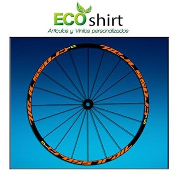 Ecoshirt 2T-M92E-D0OR Aufkleber Stickers Felge Rim Mavic Crosstrail Bike Am58 MTB Downhill, Orange 29 Zoll -