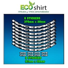 Ecoshirt 3M-G467U K0CZ Aufkleber Felge Rim Raceface 29 Zoll Am54 Bike MTB Downhill - 1