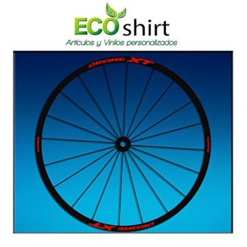 "Ecoshirt 5Y-8IKC-8EXS Aufkleber Stickers Felge Shimano Deore XT 26"" 27,5"" Am48 MTB Downhill, Rot 27,5"" - 1"
