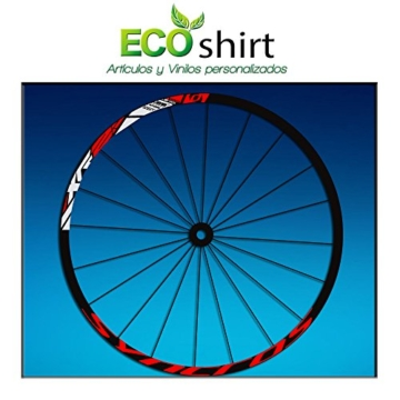 Ecoshirt 9M-BYSP-LA57 Aufkleber Stickers Felge Rim DT Swiss Syncross Xr25 MTB Downhill, Rot 29 Zoll - 1