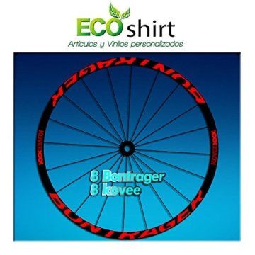 ECOSHIRT Aufkleber mit Aufschrift Bontrager Koveexxx, AM207 für Fahrradfelgen, rot -