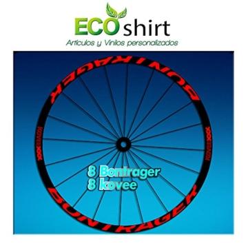 ECOSHIRT Aufkleber mit Aufschrift Bontrager Koveexxx, AM207 für Fahrradfelgen, rot - 1