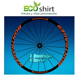 Ecoshirt C7-C8A2-AMYJ Aufkleber Stickers Bontrager Kovee Elite 23 Am208 Wheel Aufkleber Felge Rim, Orange - 1