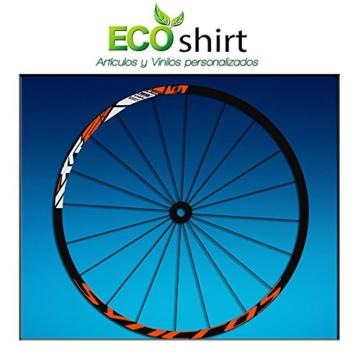 Ecoshirt DV-DQHO-SG6J Aufkleber Stickers Felge Rim DT Swiss Syncross Xr25 MTB Downhill, Orange 29 Zoll -