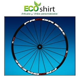 Ecoshirt GK-ULUH-V16I Aufkleber Stickers Felge Rim Progress Xcd EVO Am44 MTB Downhill, weiß 29 Zoll - 1