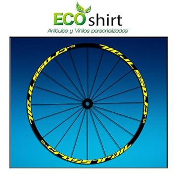Ecoshirt KC-F525-N9JD Aufkleber Stickers Felge Rim Mavic Crosstrail Bike Am58 MTB Downhill, Gelb 29 Zoll -