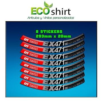 Ecoshirt NN-CIU0-FQSQ Sticker Stickers Felge Rim DT Swiss Ex471 Bike 29 Zoll Am59 MTB Downhill -