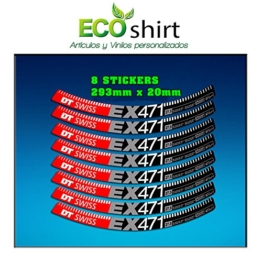 Ecoshirt NN-CIU0-FQSQ Sticker Stickers Felge Rim DT Swiss Ex471 Bike 29 Zoll Am59 MTB Downhill - 1