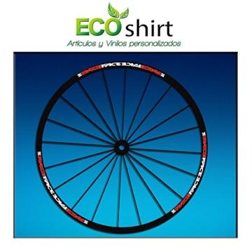 Ecoshirt OS-SK5X-FZM8 Aufkleber Stickers Felge Rim Raceface Am51 Bike MTB Downhill, Rot Weiß 29 Zoll -